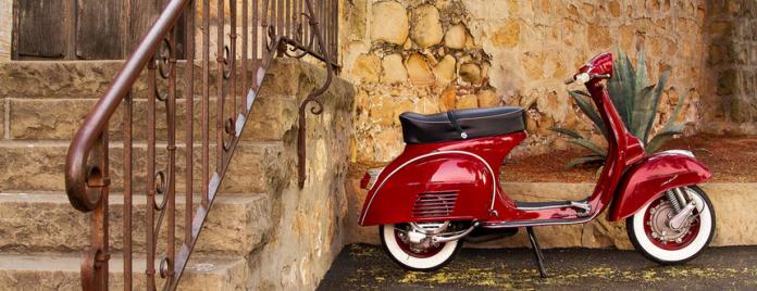 Legendary Vespa Piaggio scooter