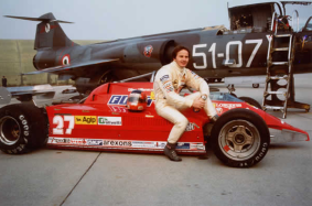 Gilles Villeneuve, arguably the most spectacular F1 driver ever, and his Ferrari