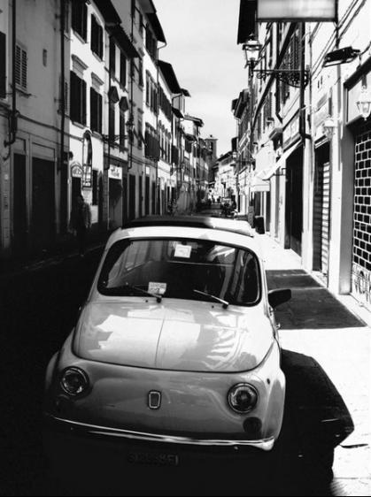 Fiat 500 - Urban scene, Florence, Tuscany