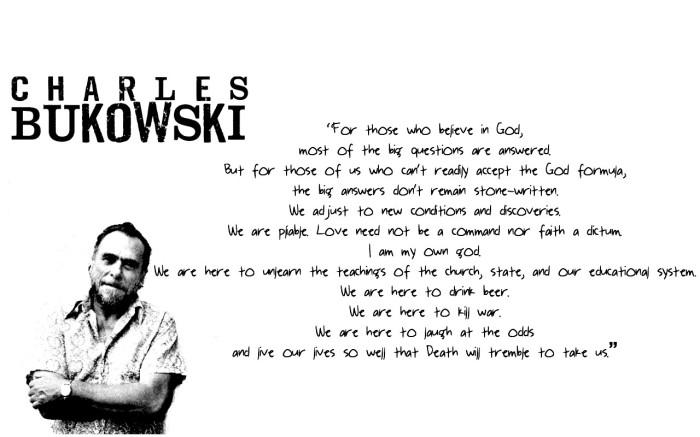 Charles Bukowski banner