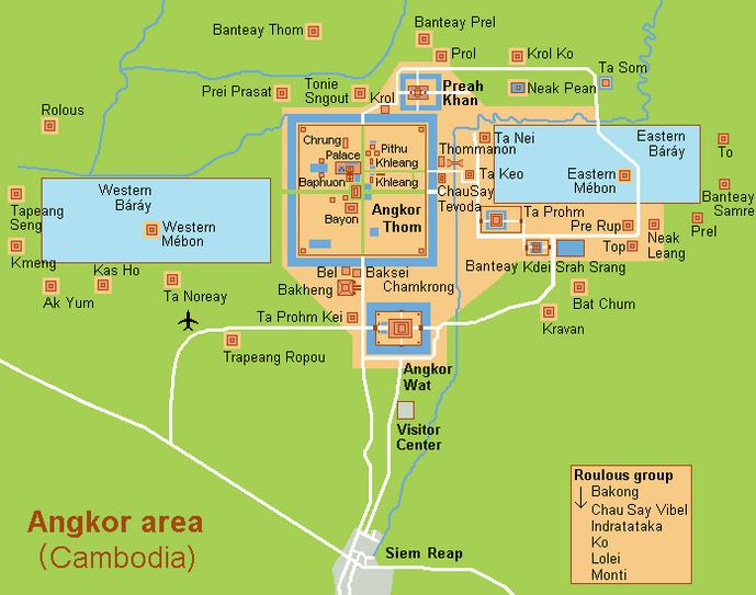 Angkor Wat site plan
