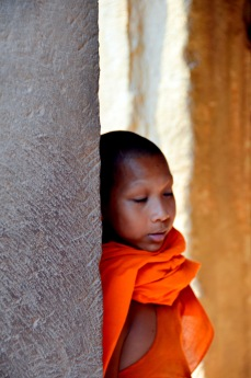 Buddhist monk in Angkor Wat temple