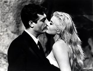 Anita Ekberg and Marcello Mastroianni in Federico Fellini's La Dolce Vita