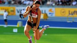 Yelena Isinbayeva jumping