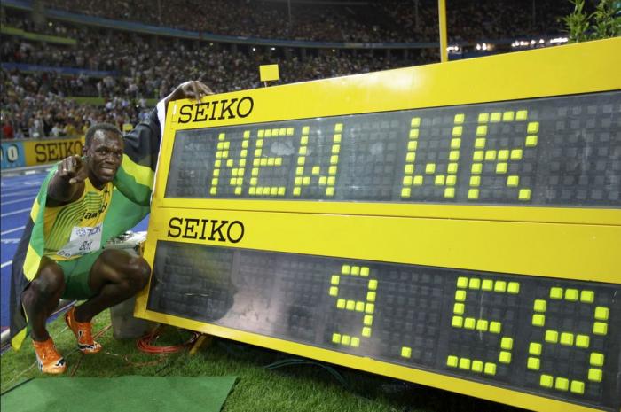 Usain Bolt 100m word record in Berlin 2009 world championship