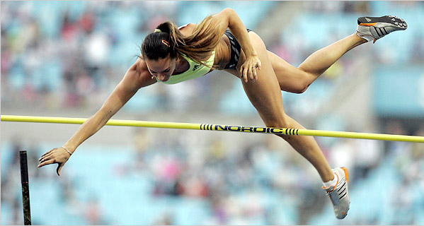 Yelena Isinbayeva passing the bar