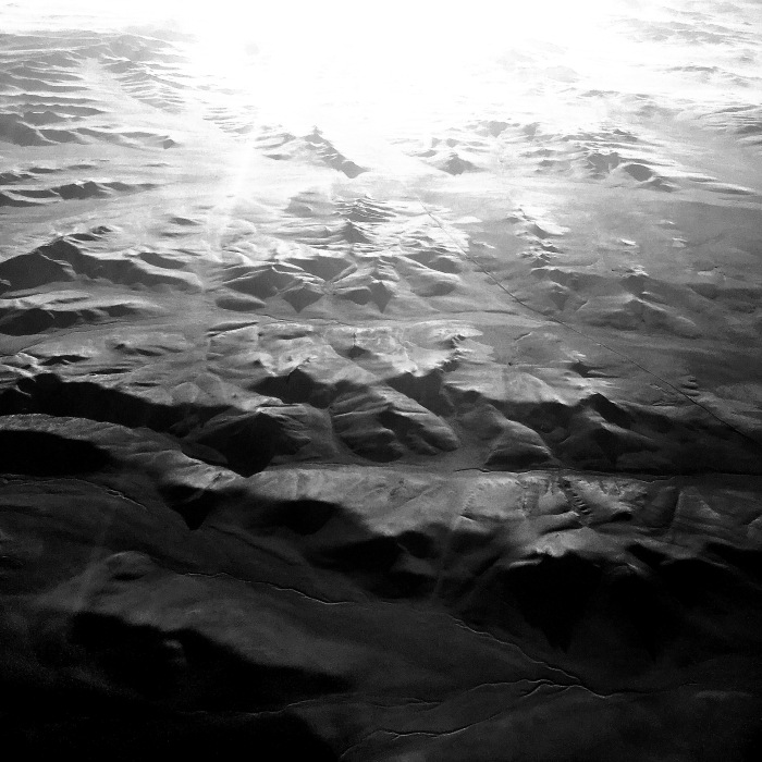 In the sky above Mongolia