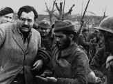 Ernest Hemingway with fighters of Spanish civil war