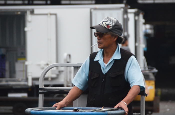 Tsukiji market worker